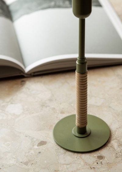Duca Candle Holder | Olive Green by MENU