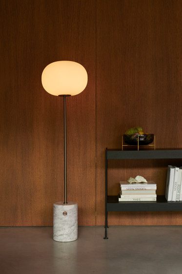 JWDA Floor Lamp | Travertine | Brushed Brass by MENU