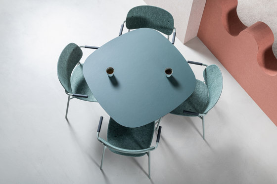 Hale PET Felt Stack Chair by De Vorm