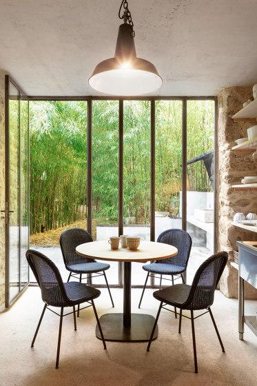 Bistro dining table square flat base oak top de Vincent Sheppard