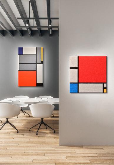 Komposition In Rot, Blau, Gelb by Findeisen