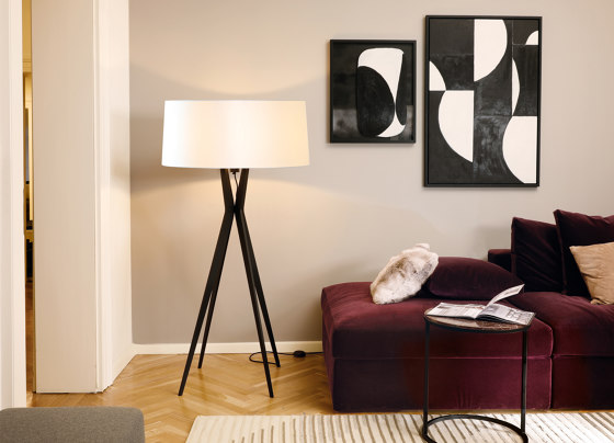 No. 43 Floor Lamp Vintage Collection - Satin White - Multiplex by BALADA & CO.