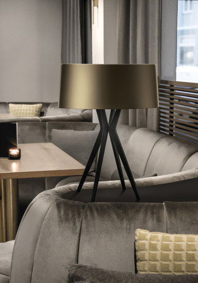 No. 43 Table Lamp Velvet Collection - Olive - Brass by BALADA & CO.