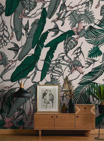 Tropical Foliage Black by TECNOGRAFICA
