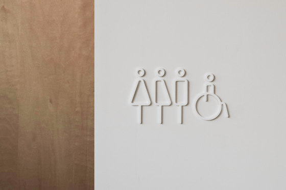 Restroom Sign | 2pcs | whtie by Moheim