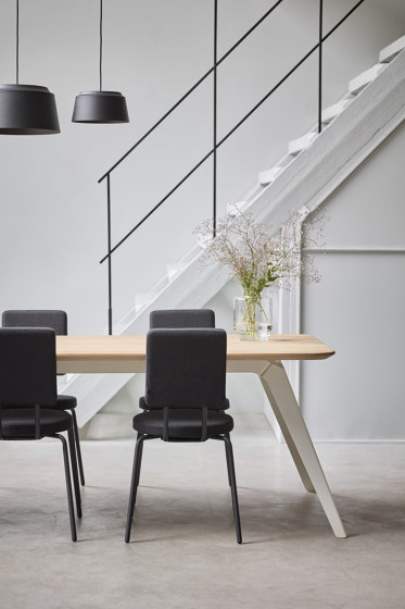 Option Chair Black Square Seat Square Back by PUIK