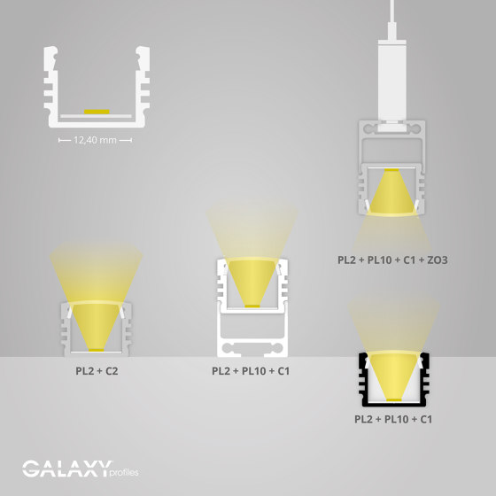 PL2 series | PL10 LED CONSTRUCTION profile / universal cable channel by Galaxy Profiles