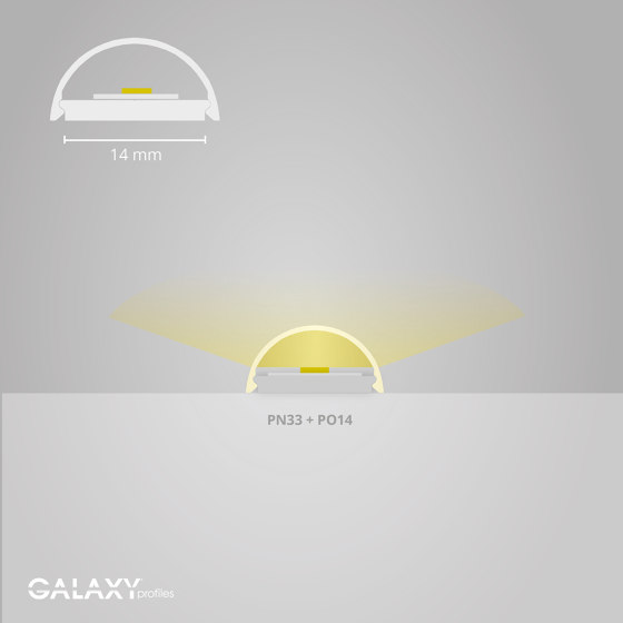 PO14 series | PO14 LED CONSTRUCTION cover profile 200 cm by Galaxy Profiles