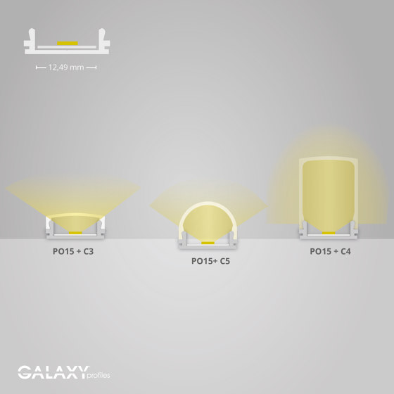 PO15 series | Cover C3 opal / satined 200 cm by Galaxy Profiles