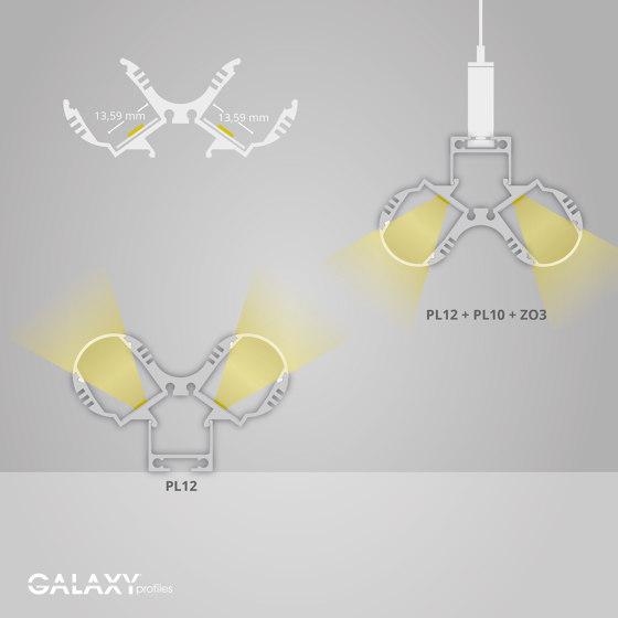 PL12 Serie | PL10 LED AUFBAU-Profil/Kabel-Universalkanal von Galaxy Profiles