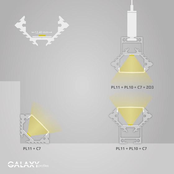 PL11 Serie | Cover C7 opal/satiniert 200 cm von Galaxy Profiles