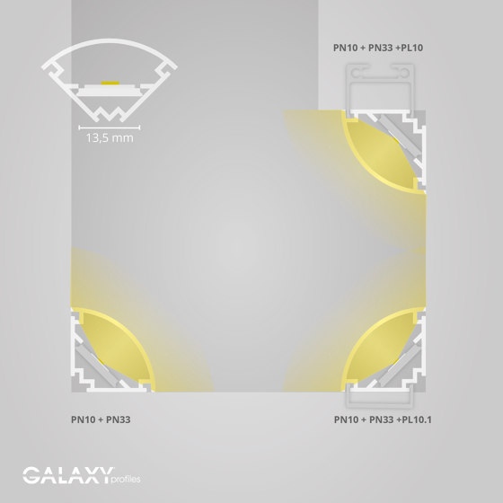 PN10 series | PL10 LED CONSTRUCTION profile / universal cable channel by Galaxy Profiles