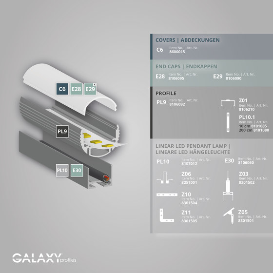 PL9 series | End cap E29 by Galaxy Profiles