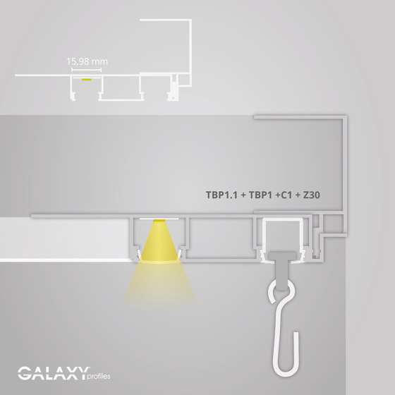 TBP1.1 series | Cover C1 opal / satined 600 cm by Galaxy Profiles