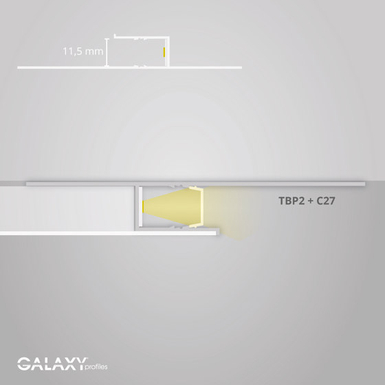 TBP2 series | Cover C27 opal / satined 200 cm by Galaxy Profiles