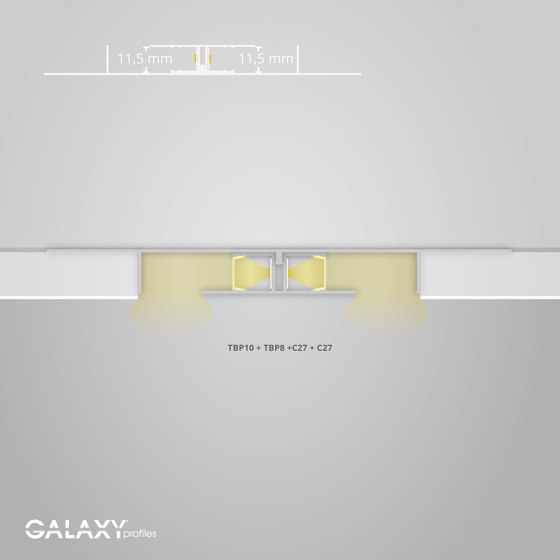TBP10 series | Cover C27 opal / satined 200 cm by Galaxy Profiles