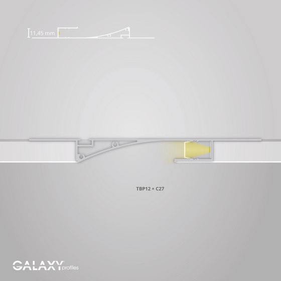 TBP12 series | Cover C27 opal / satined 200 cm by Galaxy Profiles