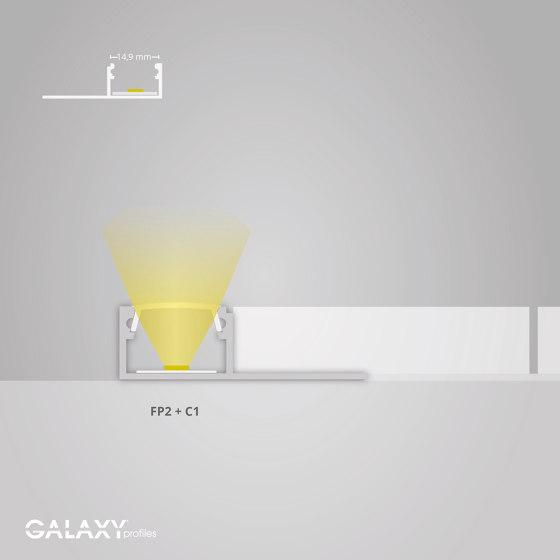 FP2 Serie | FP1 LED Fliesenprofil Mitte 250cm von Galaxy Profiles