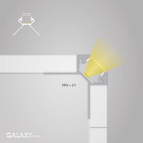 FP5 Serie | FP5 LED Fliesenprofil Außeneck 200 cm von Galaxy Profiles
