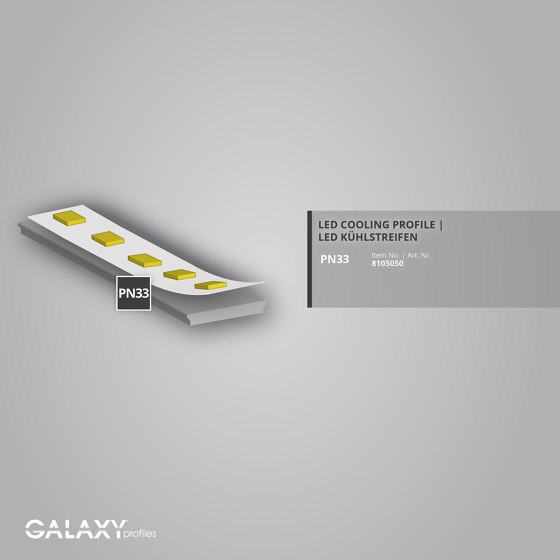 PN33 series | PN33 LED cooling strips 200cm by Galaxy Profiles