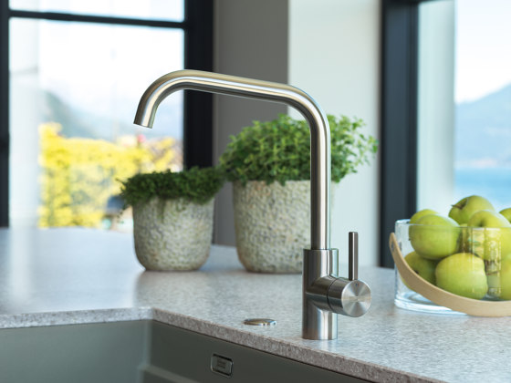 Kubus Tap Pull Down Spray U Spout Stainless Steel by Franke Kitchen Systems