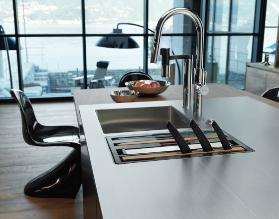 Vital Water Fitration Tap Stand Alone U Spout Chrome-Gun Metal by Franke Kitchen Systems