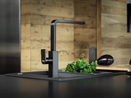 Mythos Tap Swivel Spout L Spout Industrial Black by Franke Kitchen Systems