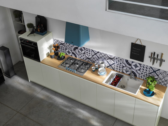 Smart Deco Hood FSMD 508 BL Matt Smokey Blue by Franke Kitchen Systems
