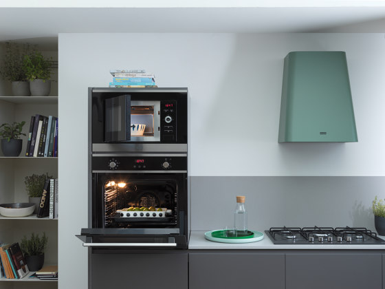 Smart Plus Multifunctional Microwave FMW 20 SMP G XS Stainless Steel Black by Franke Kitchen Systems