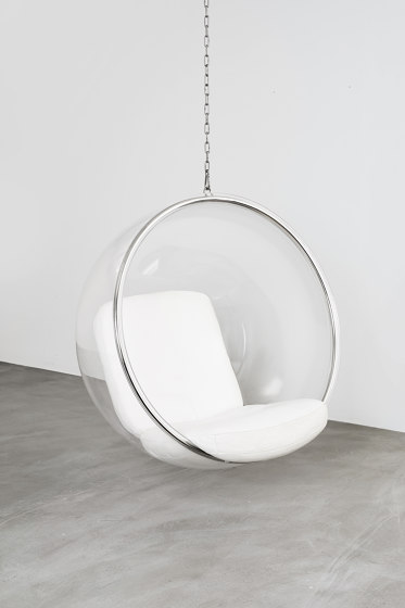 Bubble, white leather cushions von Eero Aarnio Originals