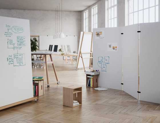 Cube – Whiteboard Stand and Stool by Studiotools