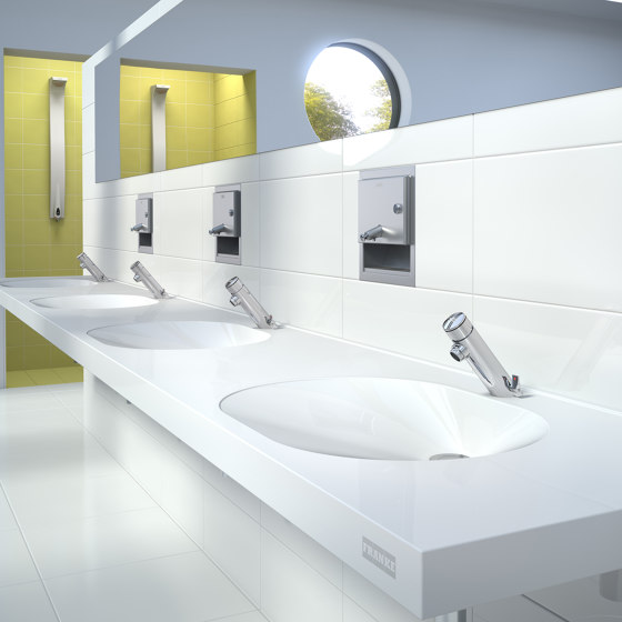F3S-Mix self-closing in-wall mixer by Franke Water Systems