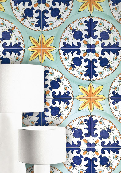 Antichi Decori Recamone by Ceramica Francesco De Maio