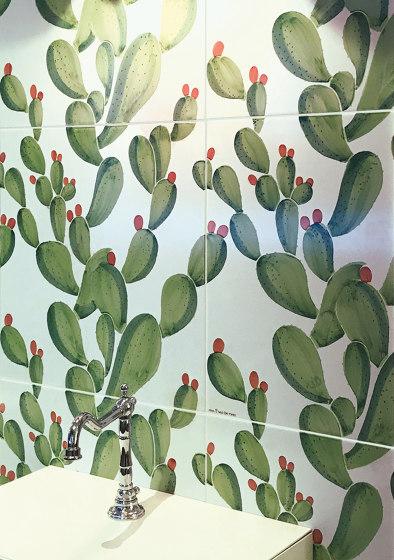 Verde Verticale Cactus by Ceramica Francesco De Maio