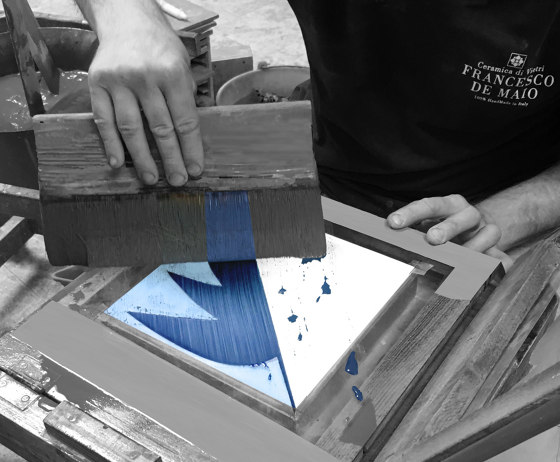 Blu Ponti Decoro Tipo 14 by Ceramica Francesco De Maio