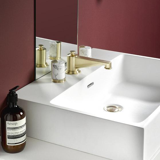Le 9 | Rim mounted 3-hole basin mixer by THG Paris