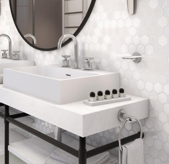 Bondi   Rim mounted 3-hole basin mixer by THG Paris