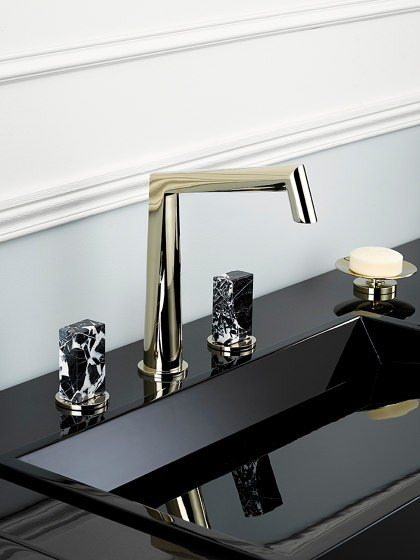 Montaigne | Rim mounted 3-hole basin mixer by THG Paris
