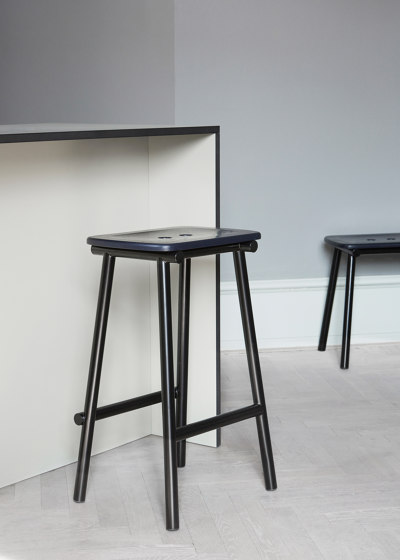 Tubby Tube Counter Stool | Wooden seat by Please Wait to be Seated