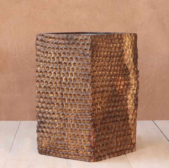 Tallado Wooden Cube Table by Pfeifer Studio