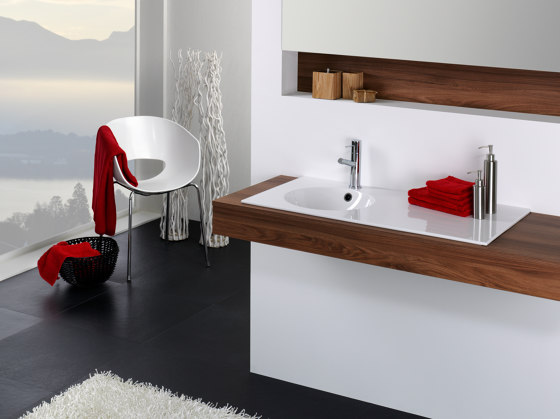 ORBIS VARIO counter top washbasin by Schmidlin