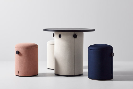dB Pillar with Waste Paper Basket by Abstracta