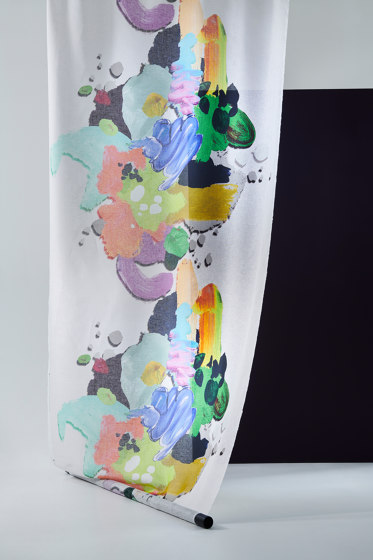 Pia col. 101 ecru/multicolor by Jakob Schlaepfer