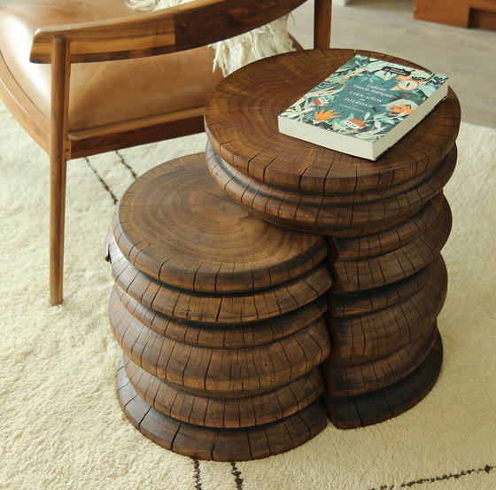 Andra Turned Wood Nesting Tables by Pfeifer Studio