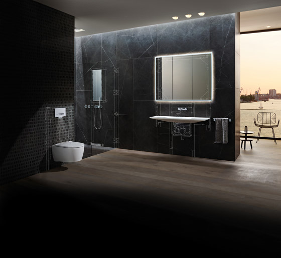 ONE | washbasin tap, square design by Geberit