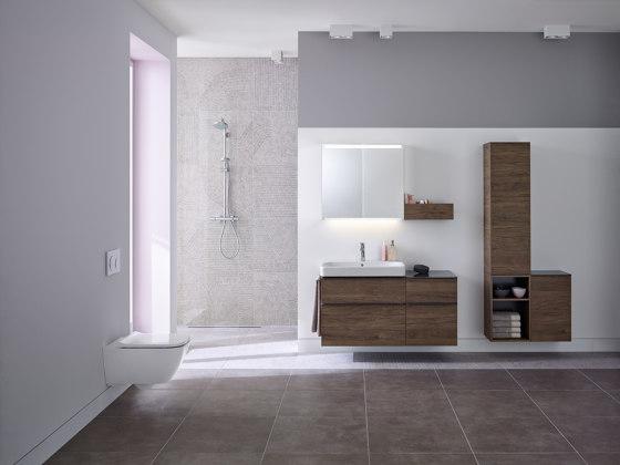 Smyle | semi tall cabinet sand grey by Geberit