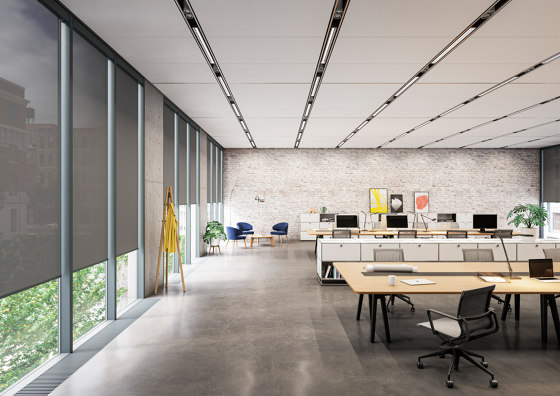Closed cassette, motor-operated - powder coated RAL 7016 von Kvadrat Shade