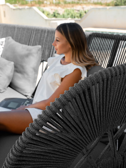 Cliff Dèco | Sofa lounge xl dx backrest rope de Talenti