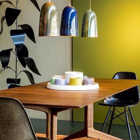 Plex Medium Table Lamp Tribal Etched Jet by Lyngard