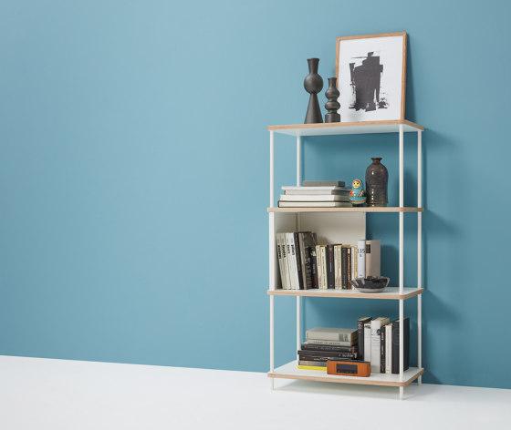 Pal shelf  laquered in 20 colours 90 cm width de Müller small living
